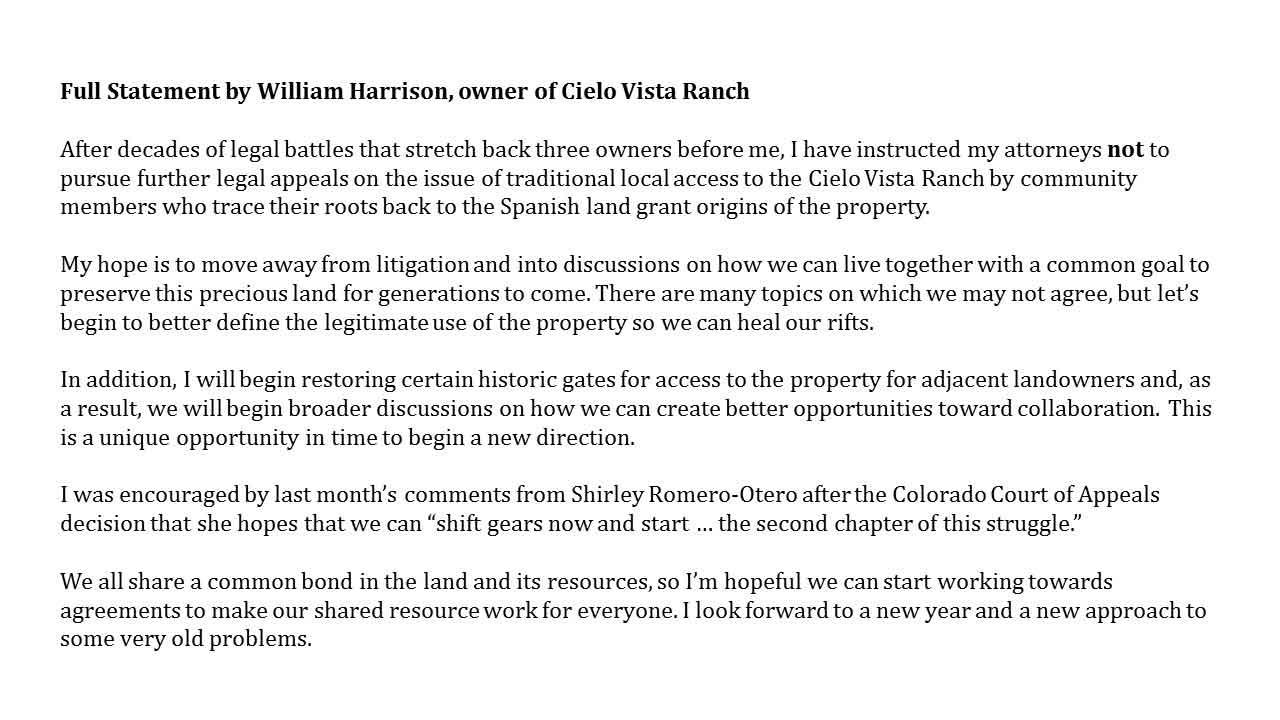 CVR Statement Update